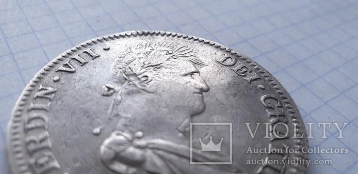 Монета 8 реалов 1821 года - Мексика - Фердинанд VII, фото №2