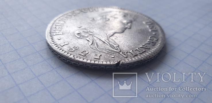 Монета 8 реалов 1821 года - Мексика - Фердинанд VII, фото №4