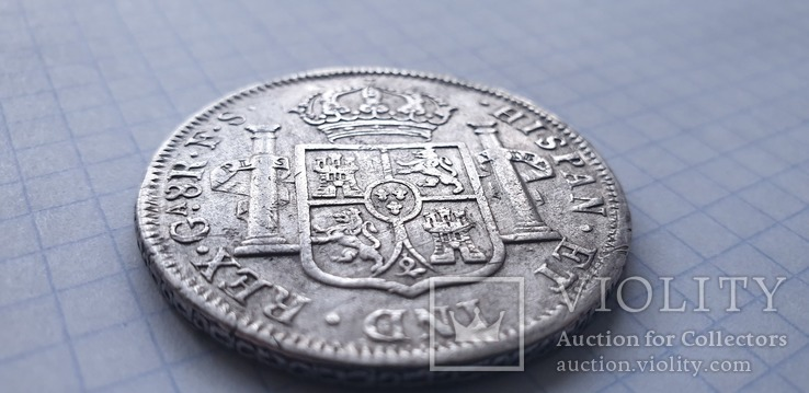 Монета 8 реалов 1821 года - Мексика - Фердинанд VII, фото №6