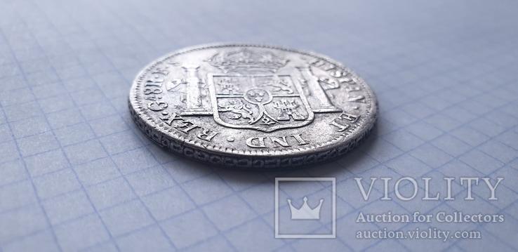 Монета 8 реалов 1821 года - Мексика - Фердинанд VII, фото №7