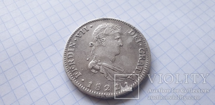 Монета 8 реалов 1821 года - Мексика - Фердинанд VII, фото №8