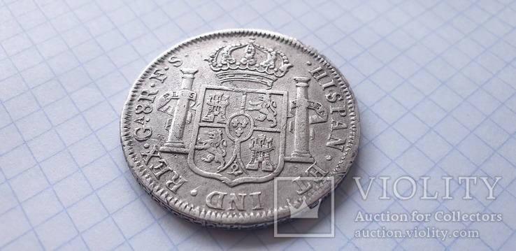 Монета 8 реалов 1821 года - Мексика - Фердинанд VII, фото №9