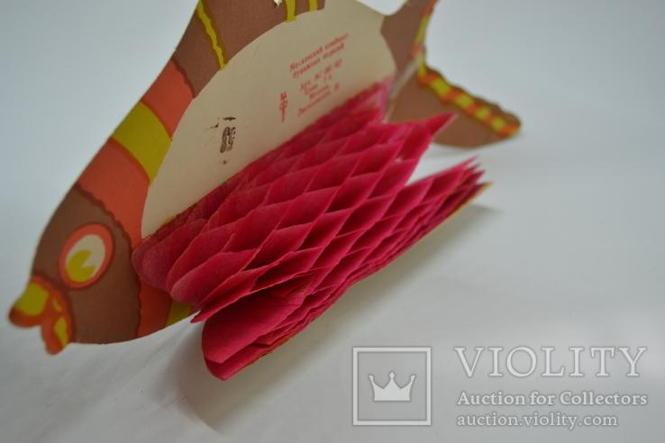 Елочная бумажная игрушка-гирлянда Рыбка, СССР, фото №6