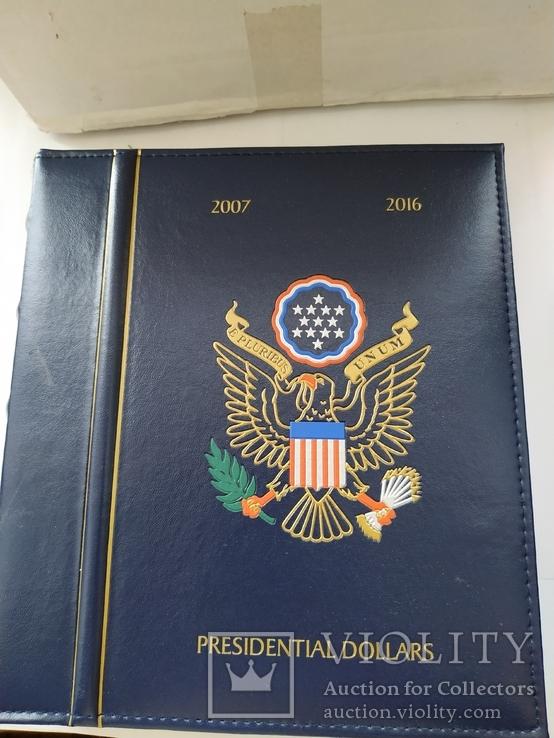 Альбом Leuchtturm OPTIMA, по президентские монеты США 2007 - 2016 года, фото №7