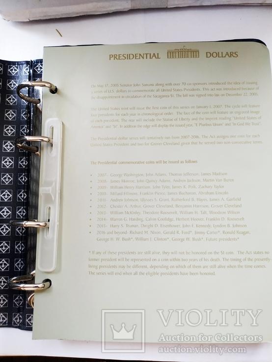 Альбом Leuchtturm OPTIMA, по президентские монеты США 2007 - 2016 года, фото №8