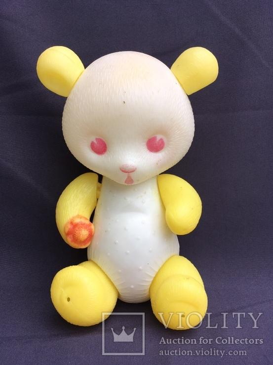 Пластмассовый медвежонок  СССР 26 см, фото №2
