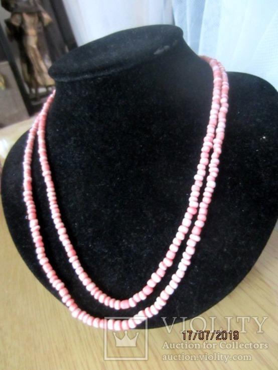 Бусы розовый коралл, фото №2