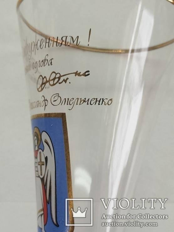 Свадебные бокалы с автографом мера Киева А. Омельченко, фото №8
