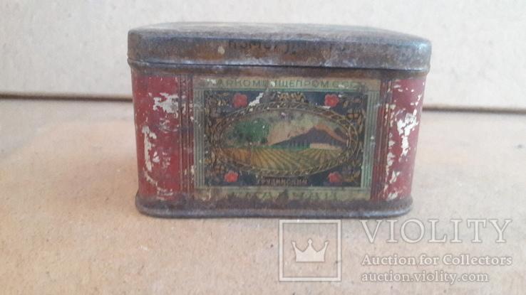Коробка чайница Чай грузинский наркомпищепром цена чая 5руб чайницы 56к, фото №2