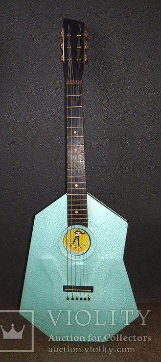 Акустическая гитара. Металлическая. Житомирская фабрика.  6 струн., фото №2
