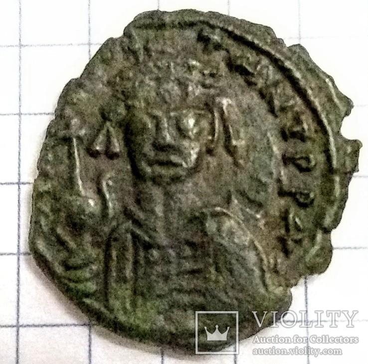 1/2 фоліса,Тиберій ІІ Костянтин,578-582рр.Нікомедія