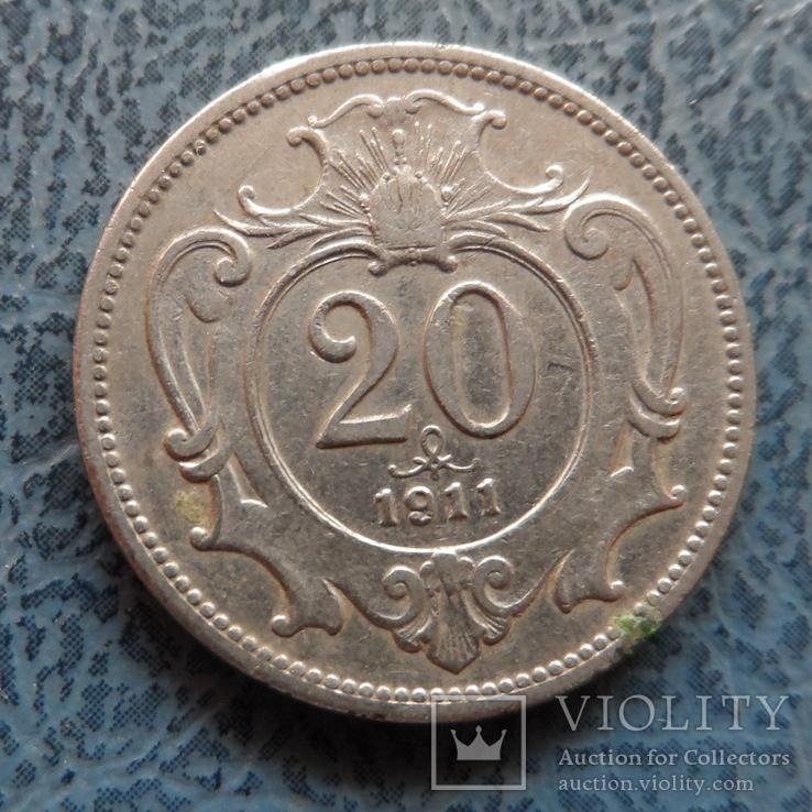 20 геллеров 1911  Австро-Венгрия     (9.3.11)~, фото №2