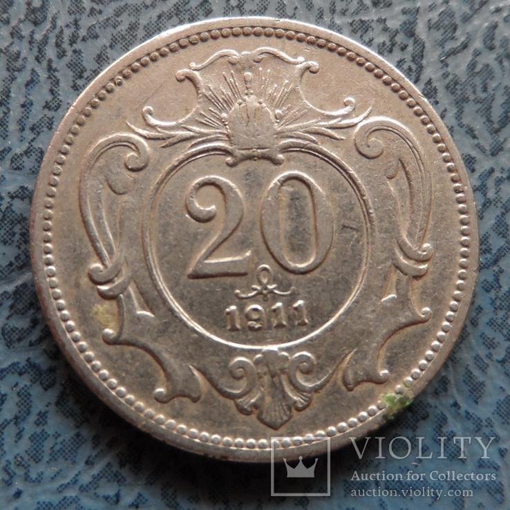 20 геллеров 1911  Австро-Венгрия     (9.3.11)~, фото №3