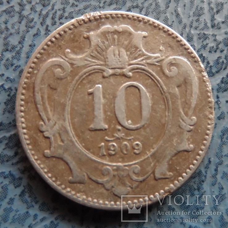 10 геллеров 1909  Австро-Венгрия     (9.3.15)~, фото №2