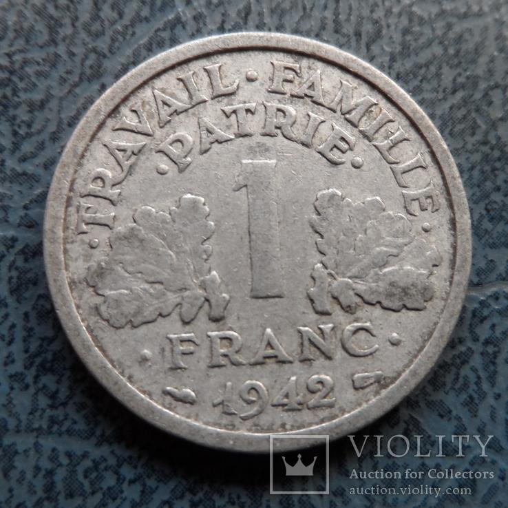 1 франк 1942  Франция     (9.3.19)~, фото №2