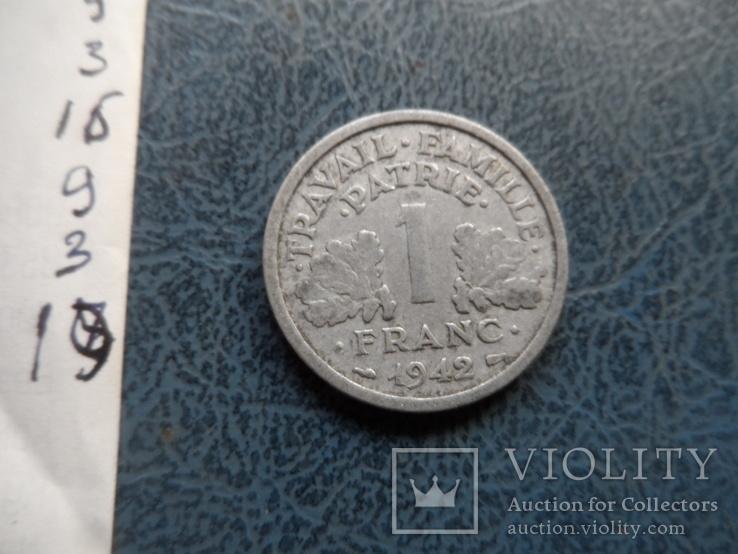 1 франк 1942  Франция     (9.3.19)~, фото №4