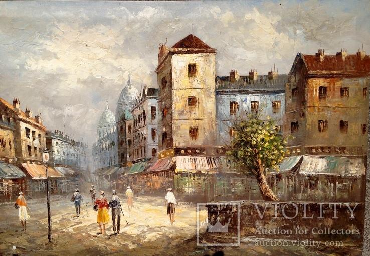 Картина,холст,масло (Франция), фото №3
