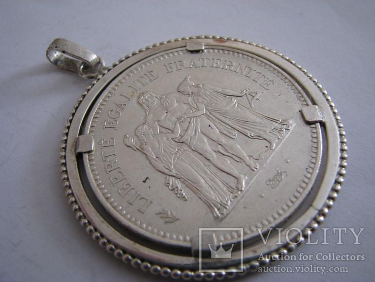 "Кулон. ""50 франков"" Серебро, фото №2"
