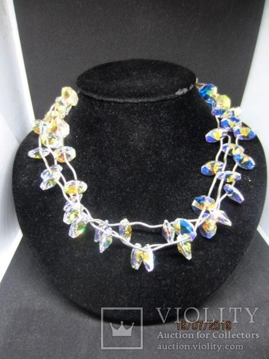 Ожерелье Cваровски серебро 925, фото №2