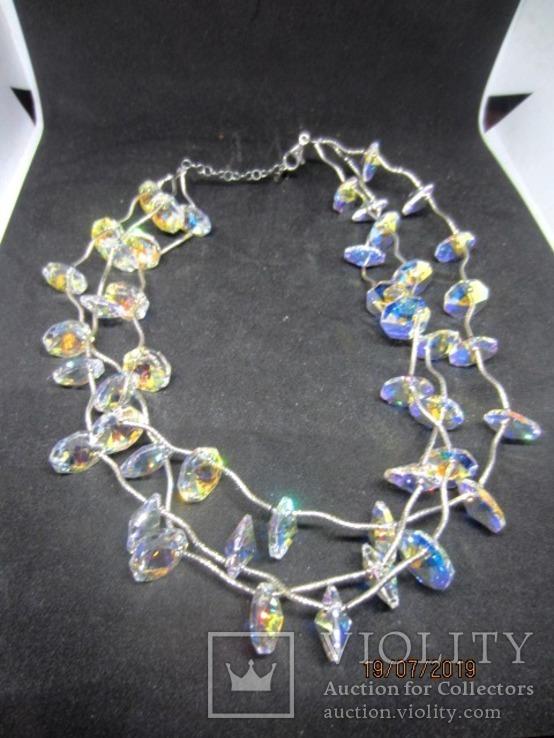 Ожерелье Cваровски серебро 925, фото №4