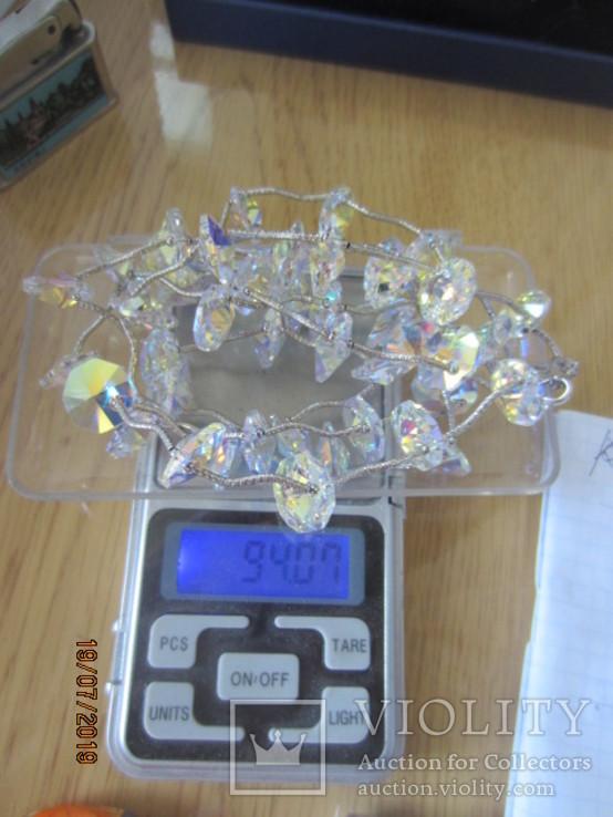Ожерелье Cваровски серебро 925, фото №10