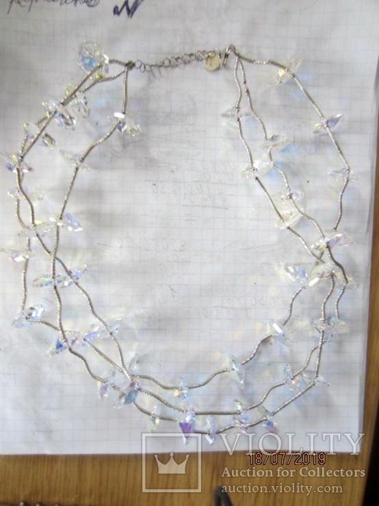 Ожерелье Cваровски серебро 925, фото №11