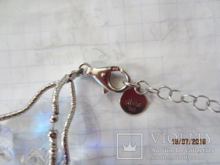 Ожерелье Cваровски серебро 925, фото №12