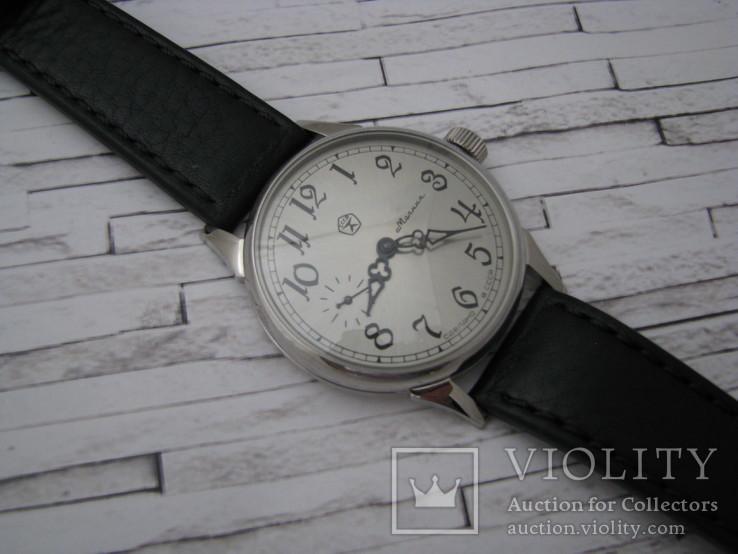 Часы Молния, наручные. Ремешок кожанный новый., фото №4