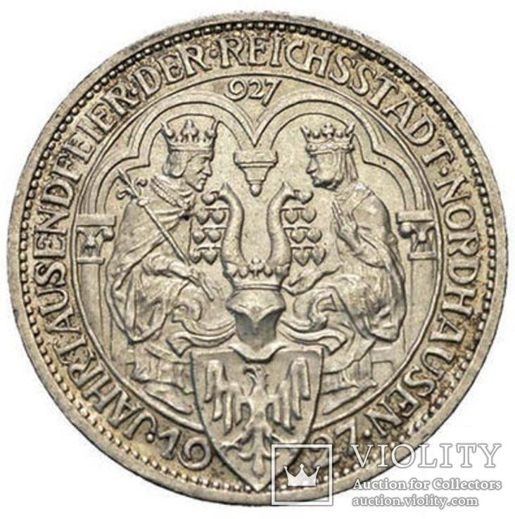 Веймарская Республика 3 марки 1927 года A Нордхаузен