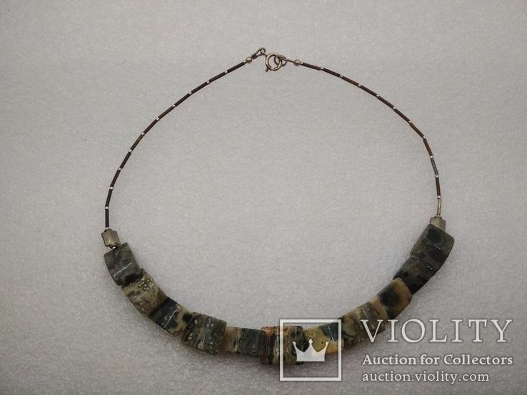 Ожерелье колье яшма
