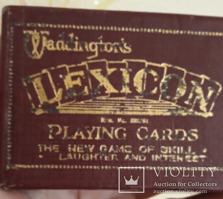 Игра карты LEXICON английский waddingtons lexicon playing cards 1950-е, фото №2