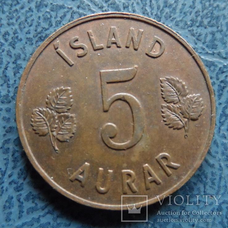 5 аурар 1961  Исландия   (,9.5.16)~, фото №3