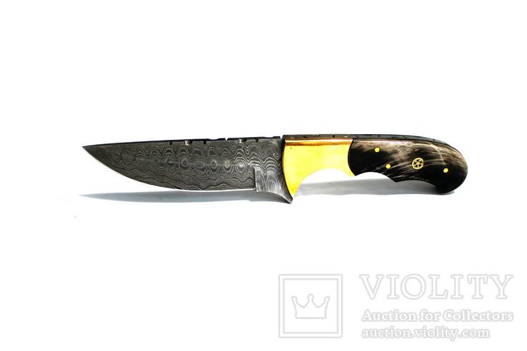 Нож охотничьий. Дамасская сталь. 31
