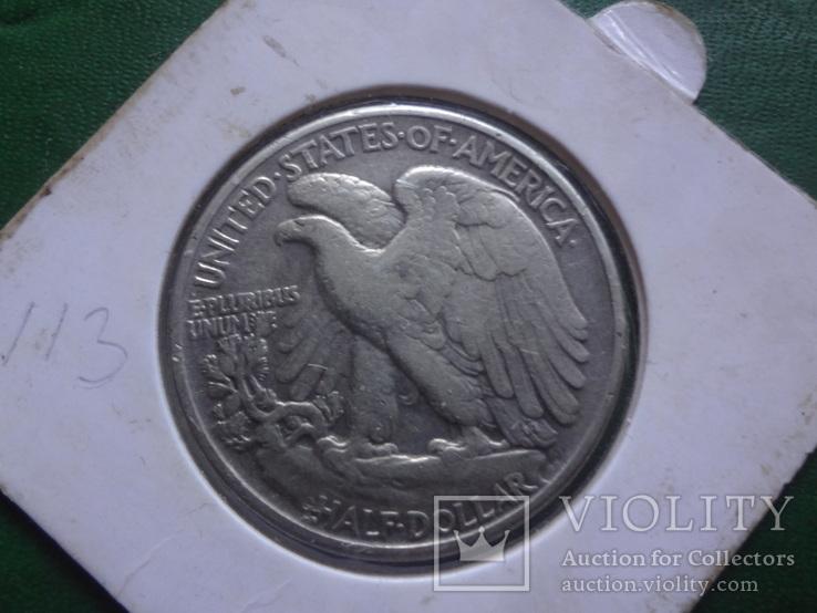 50 центов 1943 США серебро  Холдер 113~, фото №2