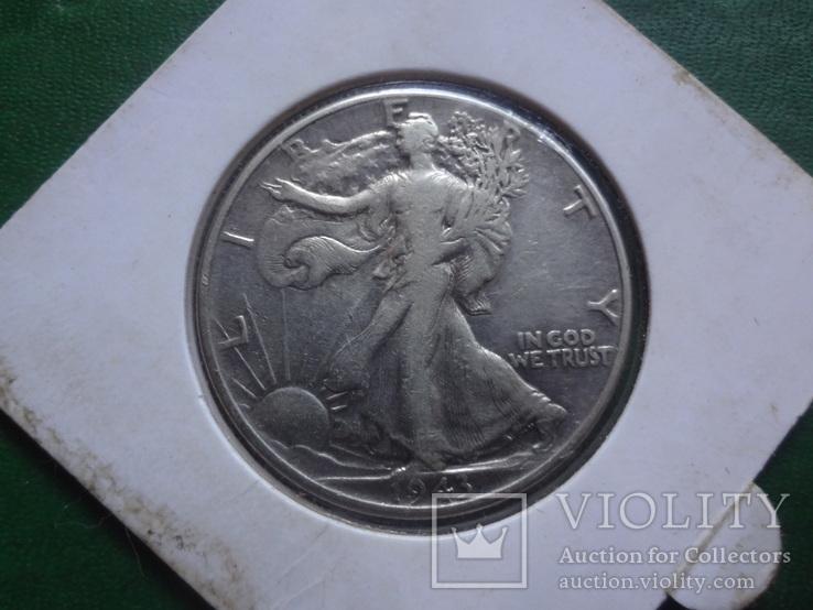 50 центов 1943 США серебро  Холдер 113~, фото №4
