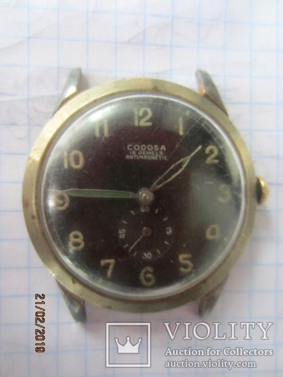 Codosa 15 jewels miletary 1940, фото №2