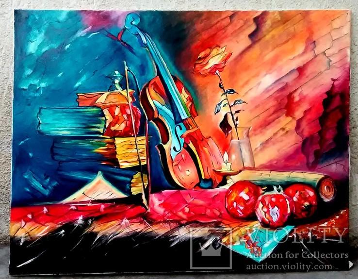 Натюрморт со скрипкой, 90х70, Березин С.