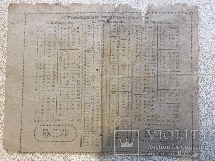 Польская табличка умножения. Первая треть XX века.