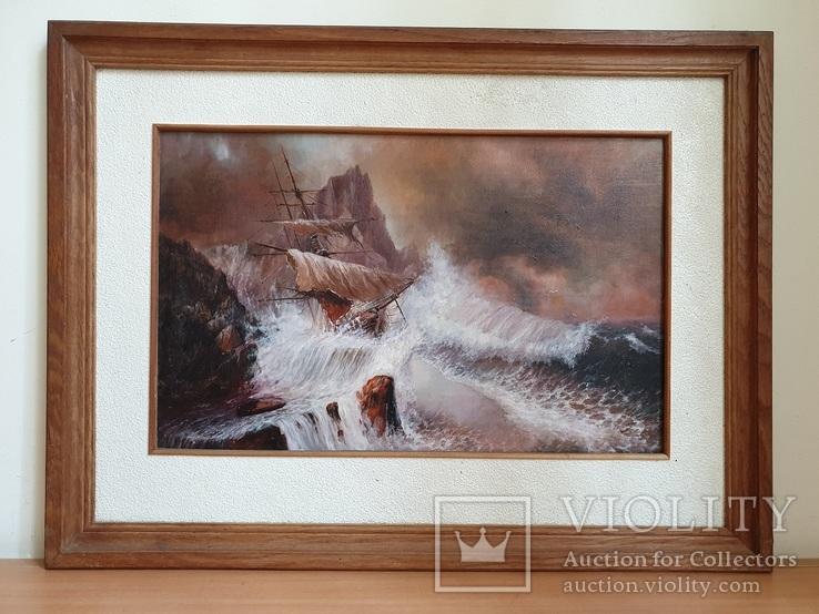 Морской пейзаж, Буря 1997 год