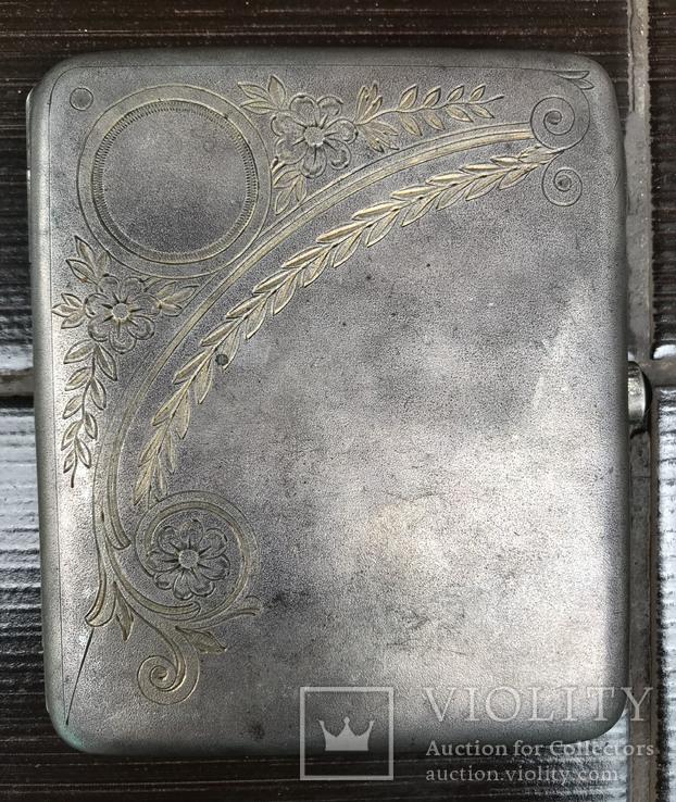 Портсигар серебро, фото №2