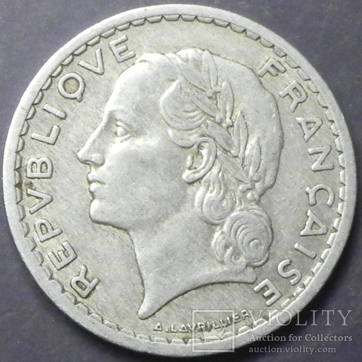 5 франків Франція 1945, фото №2