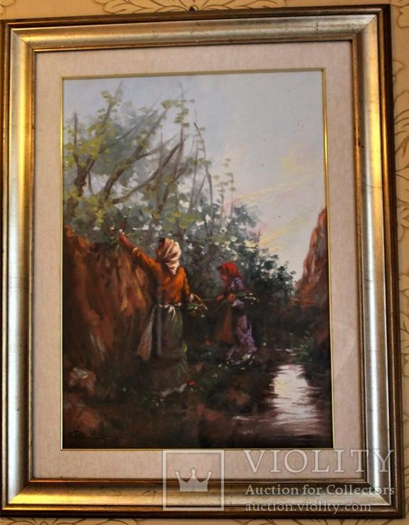 Картина маслом на холсте. П. Пантино