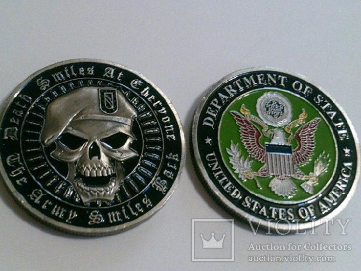 Зеленый берет US.Army - сувенирный жетон, фото №3