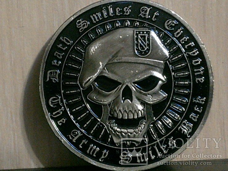 Зеленый берет US.Army - сувенирный жетон, фото №6