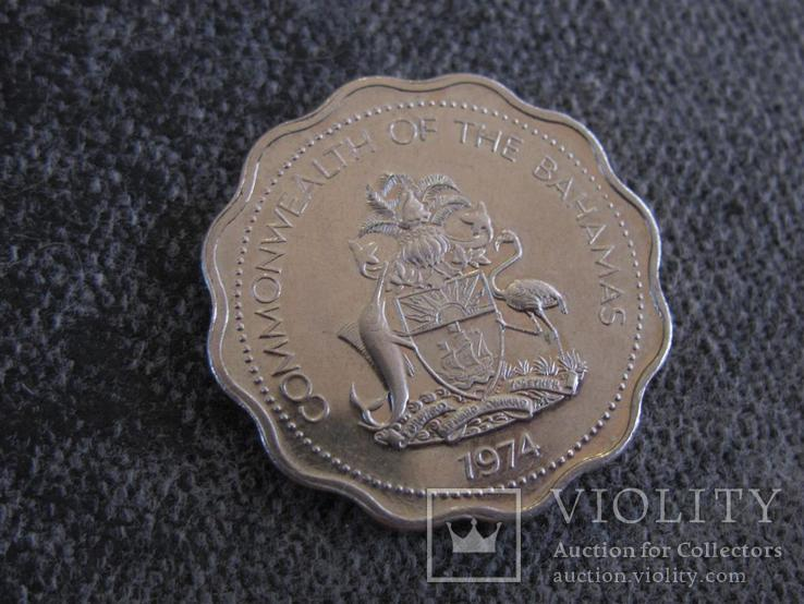 10 центов 1974 г Багамские острова, фото №3