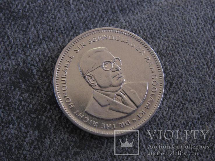 Пол рупии 2007г Маврикий, фото №3