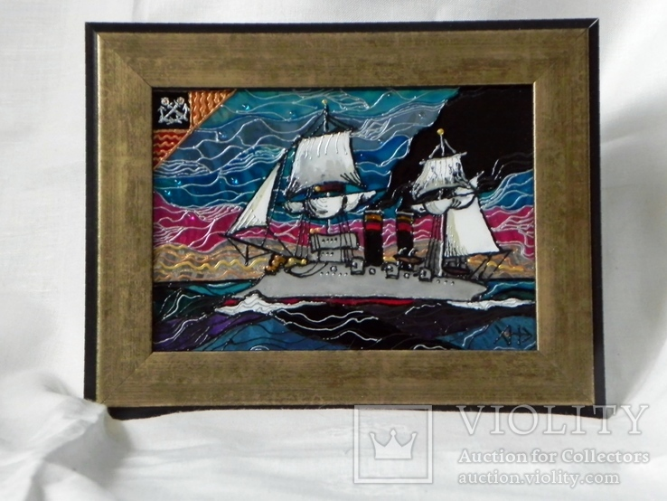 Витражная картина «Союз ветра и пара», фото №2