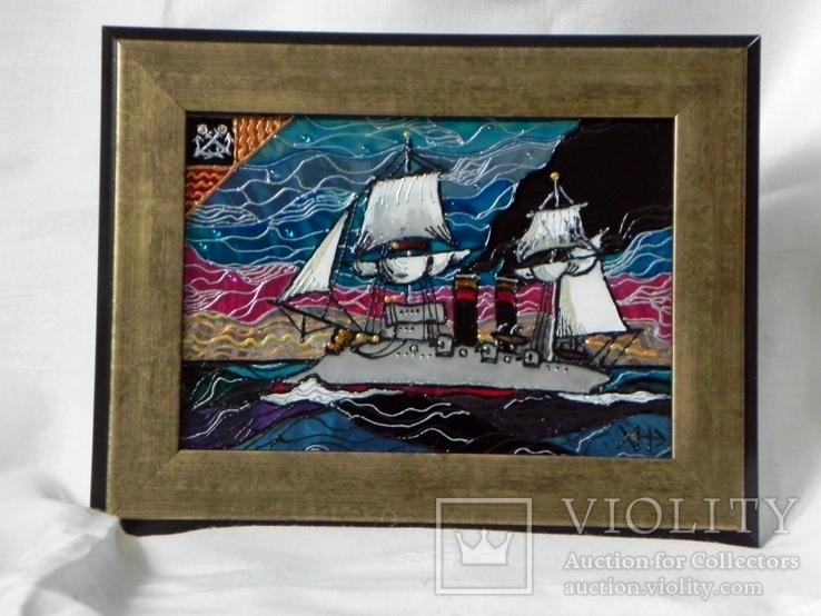 Витражная картина «Союз ветра и пара», фото №3