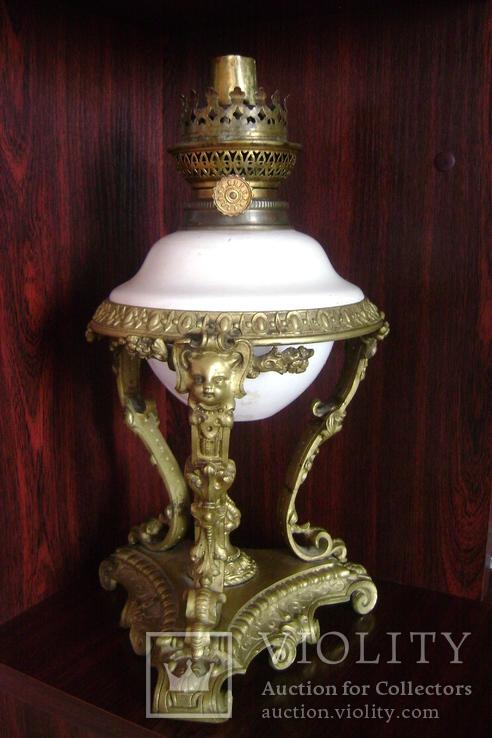 Лампа бронза.