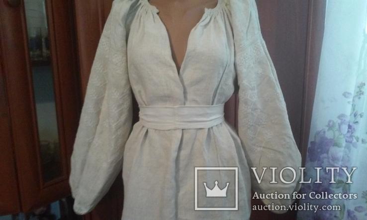 Старинная украинская вышиванка- оберег(Сумщина)   белым по  белому с вырезанием., фото №9